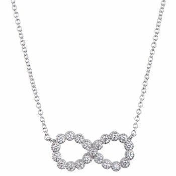 Parry's Round Cut CZ Infinity Necklace