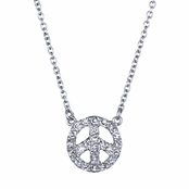 Pascale's Peace Sign Necklace