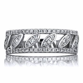Patrice's 7mm CZ Art Deco Style Anniversary Ring