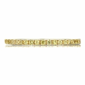 Patsy's Two Tone and Simulated Canary Simulated Diamond Band