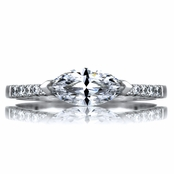 Paxton's 1.25 East-West Set Marquise CZ Engagement Ring