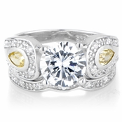 Persephone's 2.5 TCW Antique Wedding Ring Set