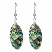 Phoebe's Oval Shaped Abalone Shell Dangle Drop Earring