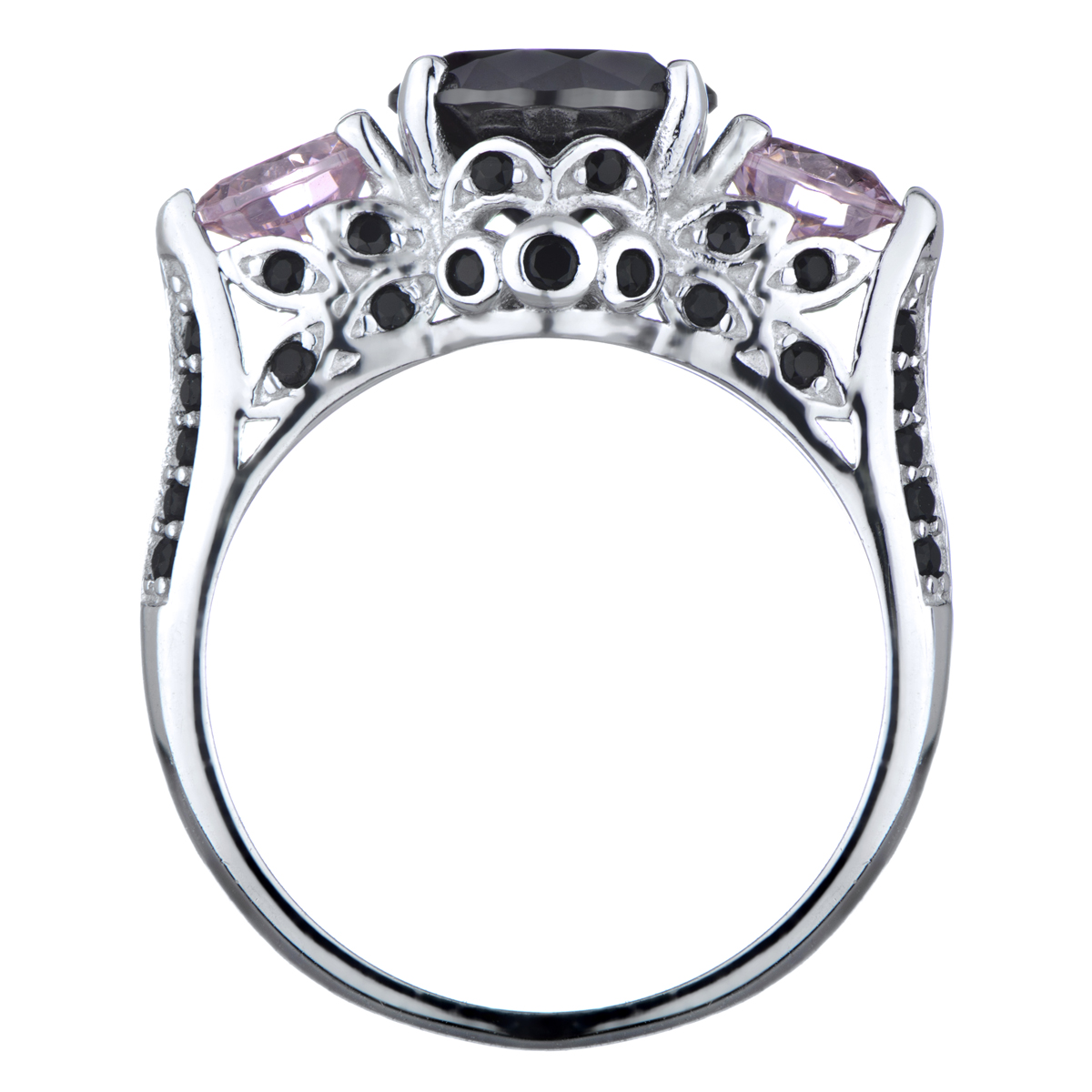 Piper s Pink and Black CZ Engagement Ring
