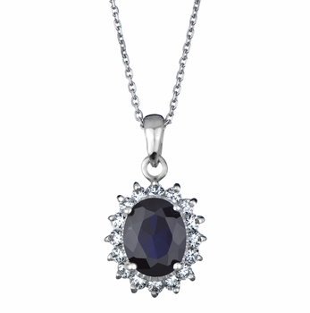 Ivy's Royal Style Blue CZ Necklace