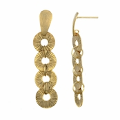 Priscila's Goldtone Circle Dangle Earrings