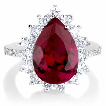 Proserpina's Red CZ Right Hand Ring