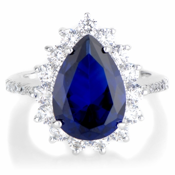 Proserpina's Right Hand Ring - Blue CZ