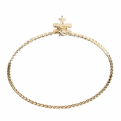 Rae's Goldtone Stackable Charm Bangle Bracelet - Airplane