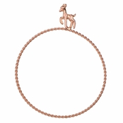 Rae's Rose Goldtone Stackable Charm Bangle Bracelet - Deer