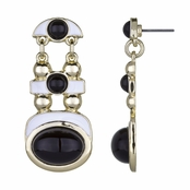 Raina's Black & White Modern Dangle Earrings