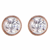 Raina's CZ Magnetic Stud Earrings - Rose Gold