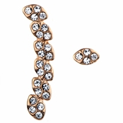 Raven's Rose Gold Rhinestone Ear Cuff and Stud Set