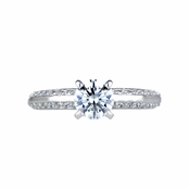 Rellah's Engagement Ring - Round Cut CZ