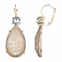 Rina's Fancy Pear Drop Earrings - Golden
