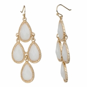 Robin's White Pear Drop Chandelier Earrings