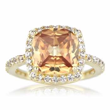 Rocio's Rose Cut Cocktail Ring - Champagne