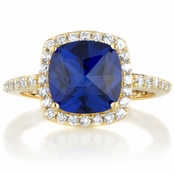 Rocio's Rose Cut Blue CZ Cocktail Ring