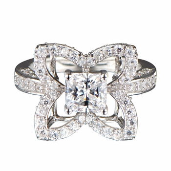 Ronna's CZ Clover Cocktail Ring