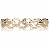 Rosalyn's 70's Style Goldtone Chain Link Bangle Bracelet