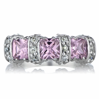 Rosario's 2 TCW Pink CZ Princess Ring