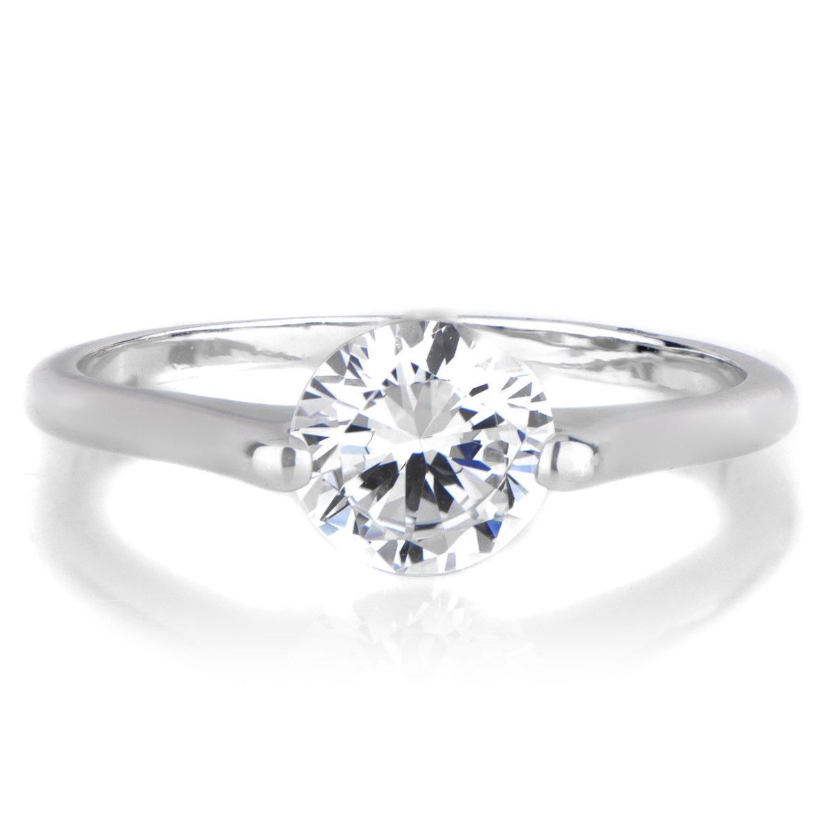 rosemarie 39 s ct round cut cz engagement ring