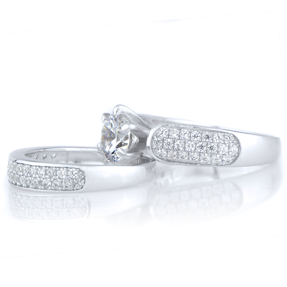 kali 39 s 85 ct round cut cz wedding ring set