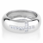 Roxie's CZ Sideways Cross Ring