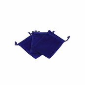 Royal Blue Velour Large Gift Pouch Set of 3 - 4 Inches