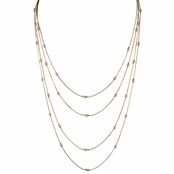 Sadie's Goldtone Layered Simulated Pearl Necklace