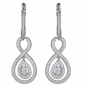 Saniya's Vinatge Pear Drop CZ Dangle Earrings