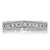 Sasha's Cubic Zirconia Wedding Band