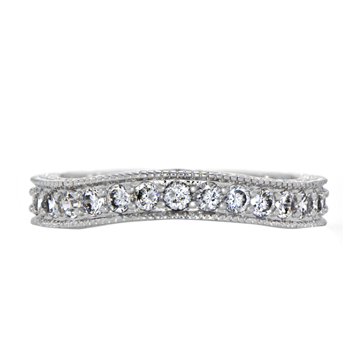 sasha s cubic zirconia wedding band