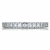 Selma's Thin Stackable CZ Eternity Band Ring