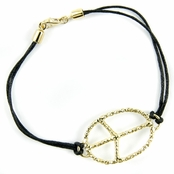 Shae's Peace Sign Bracelet- Large Oval
