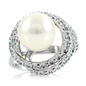 Shaina's Faux Pearl Cocktail Ring