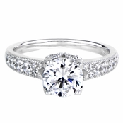 Shantae's 2 CT Butterfly Setting CZ Engagement Ring