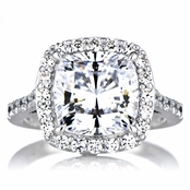 Sheera's CZ Halo Cushion Cut Engagement Ring -10mm