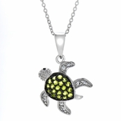 Sheldon's Green Pave Turtle Pendant