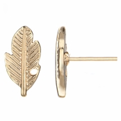 Sheridan's Gold Tone Petite Feather Stud Earrings