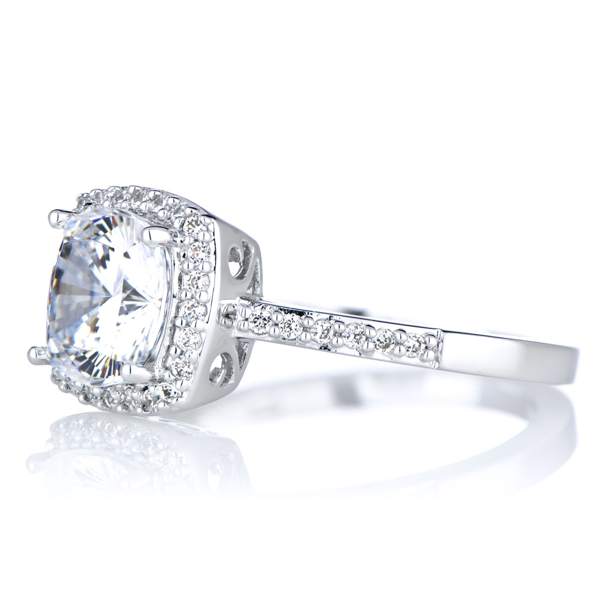 Sheryl s 2 5 CT Cushion Cut CZ Engagement Ring