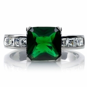 Shondra's Cocktail Ring - Simulated Emerald