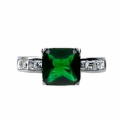 Shondra's Cocktail Ring - Green CZ