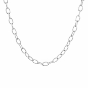 "Silver Cable Link Chain - 18"" (3.7mm)"