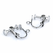 Silvertone Dangle Screwback Earring Converters - 1 Pair