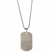 Juan's Stainless Steel Dog Tag Necklace - 24 inches