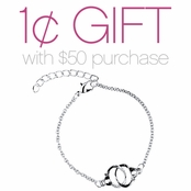 Silvertone Handcuff Bracelet: Spend $50 or More and Pay One Cent