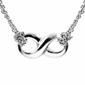 Silver Infinity Necklace - Petite