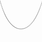 "Silvertone Necklace Chain- 16"" (1mm)"