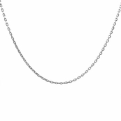 "Silvertone Necklace Chain - 24"" (1mm)"